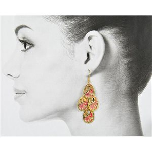 1p Filigree Golden Hook Earrings New Collection 78809