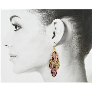 1p Filigree Golden Hook Earrings New Collection 78812