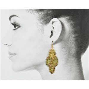 1p Filigree Golden Hook Earrings New Collection 78814
