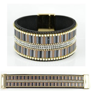 Strass bracelet Multirang cuff effect magnetic clasp New Collection 79025