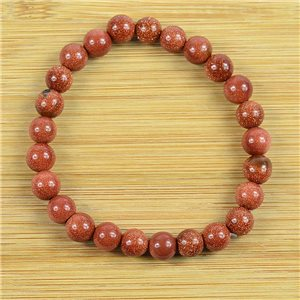 8mm Pearl Bracelet in Sunstone on elastic thread 79225