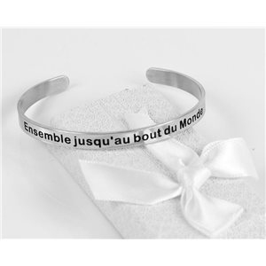 Message   Together to the end of the world   Stainless Steel Bangle 79430