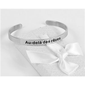 Message   Beyond Dreams   Stainless Steel Bangle 79420