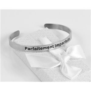 Message | Perfectly Imperfect | Stainless Steel Bangle 79414