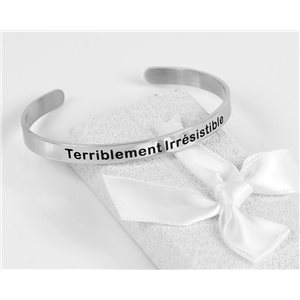 Message | Terribly Irresistible | Stainless Steel Bangle 79427