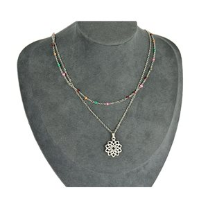 NEW Pretty Pendant Necklace on fine chain all in Stainless Steel 79435
