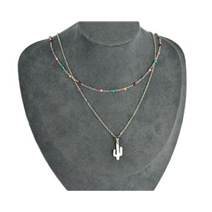 NEW Pretty Pendant Necklace on fine chain all in Stainless Steel 79437
