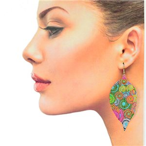 1p Filigree Hook Earrings Silver New Collection 78854