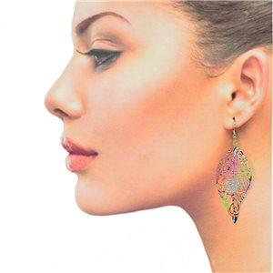 1p Filigree Hook Earrings Silver New Collection 78855