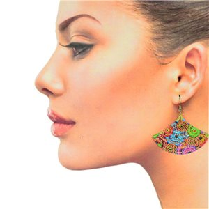1p Filigree Hook Earrings Silver New Collection 78884