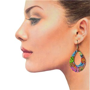 1p Filigree Hook Earrings Silver New Collection 78887