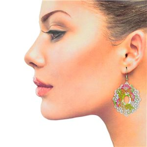1p Filigree Hook Earrings Silver New Collection 78891