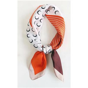 Square Satin Scarf 70 * 70cm in Polyester, silk effect touch - New Collection 79526