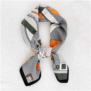 Square Satin Scarf 70 * 70cm in Polyester, silk effect touch - New Collection 79530