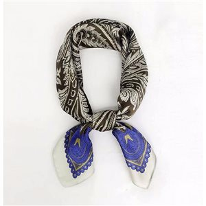 Square Satin Scarf 70 * 70cm in Polyester, silk-effect touch - New Collection 79539