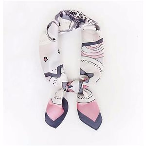 Square Satin Scarf 70 * 70cm in Polyester, silk effect touch - New Collection 79540