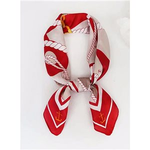 Square Satin Scarf 70 * 70cm in Polyester, silk-effect touch - New Collection 79547