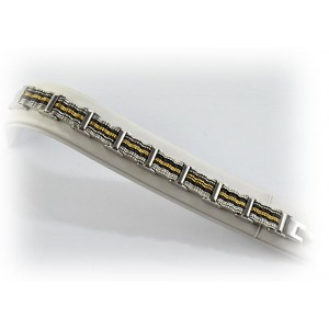 Bracelet en Acier inoxydable L21cm Steel and Gold Color New Collection 66282