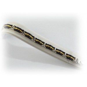 Bracelet en Acier inoxydable L21cm Steel and Gold Color New Collection 66283