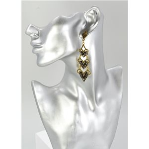 1p Boucles Oreilles Mode Vintage Collection 67436
