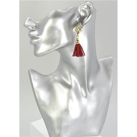 1p Strass Earring Collection Leather 68069
