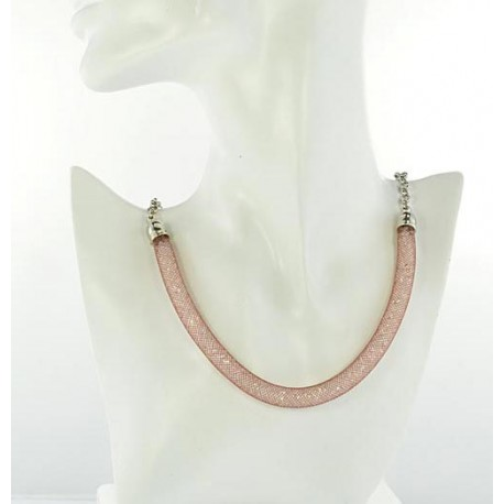 Top Fashion Necklace chain and Resille L48cm 64528