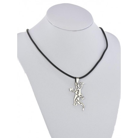 Pendant Necklace Stainless Steel on 64679 Silicone L50cm