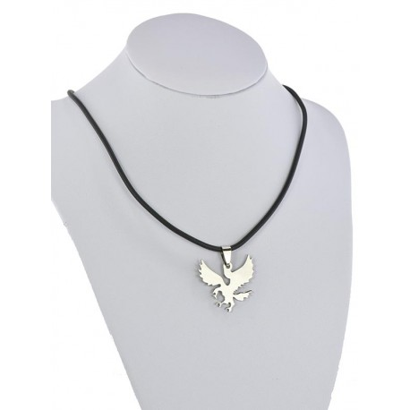 Pendant Necklace Stainless Steel on 64685 Silicone L50cm