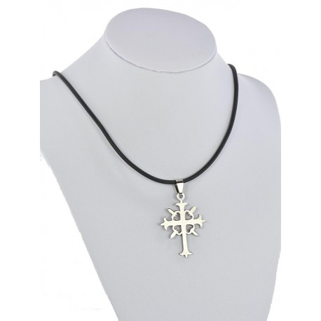 Pendant Necklace Stainless Steel on 64688 Silicone L50cm