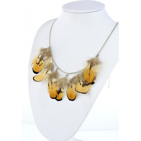 Collection Fashion Feather Necklace on chain L60cm 64698