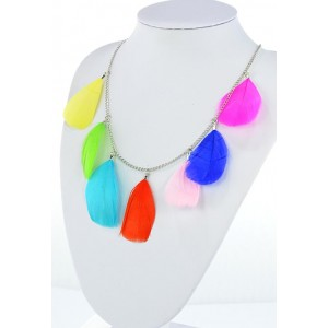Collection Fashion Feather Necklace on chain L60cm 64699
