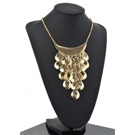 Collier métal doré Fashion Mode Chic L47cm 65336