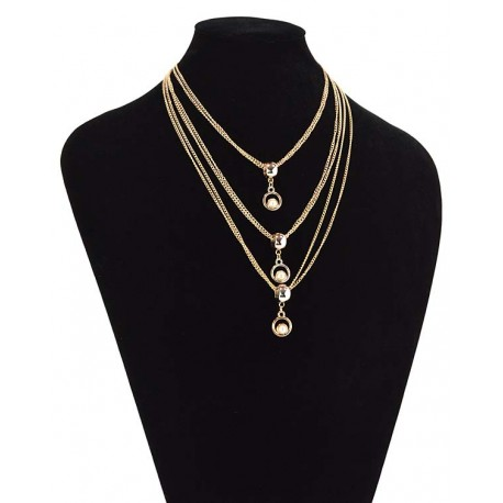 Chain Necklace gold metal Fashion Chic Fashion L57cm 65340