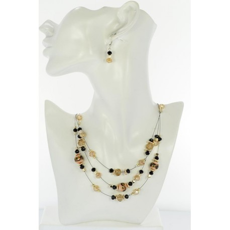 Adornment Collier Suspension 3 Rank Beads and Jewelry 65358