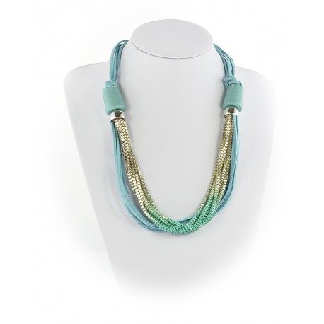 Summer Fashion Leather Necklace appearance on Channels L55cm 65610