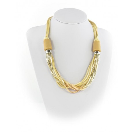 Summer Fashion Leather Necklace appearance on Channels L55cm 65611