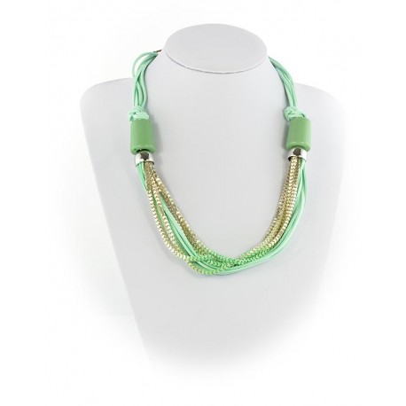 Summer Fashion Leather Necklace appearance on Channels L55cm 65612