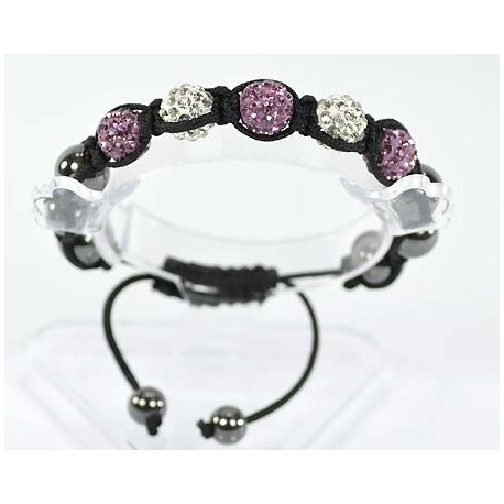 5 Adjustable Bracelet Rhinestone Balls Pierre 54687