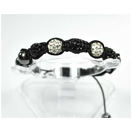 5 Adjustable Bracelet Rhinestone Balls Pierre 56550