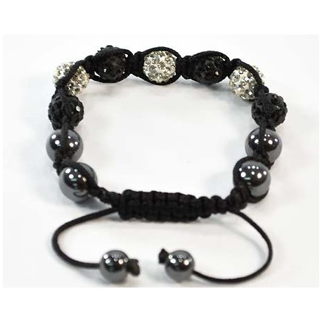 7 Adjustable Bracelet Rhinestone Balls Pierre 58293