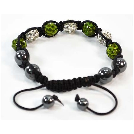 7 Adjustable Bracelet Rhinestone Balls Pierre 58296