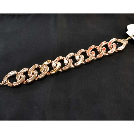 Chain Bracelet Imitation gold metal L19cm 58395