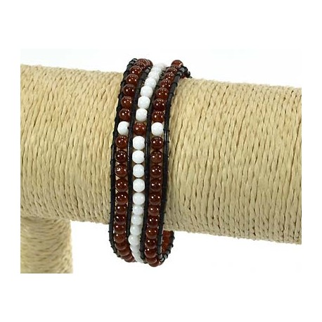 Rank 3 Beads Bracelet Fantasy on 59241 adjustable wire