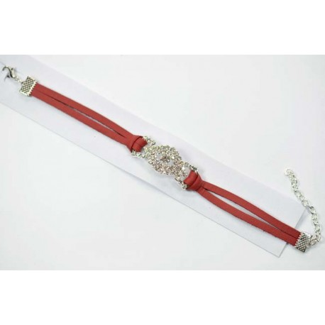 Skai bracelet set with Rhinestones + L19cm chainette 60261