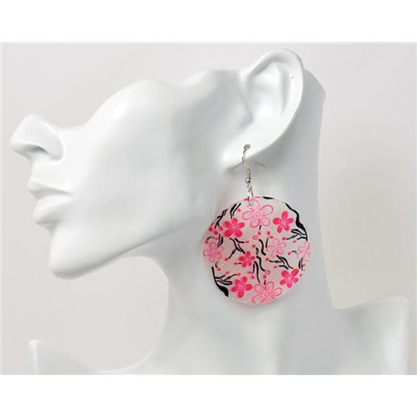 1p Boucles Oreilles en nacre naturelle Collection Fashion Design 69582