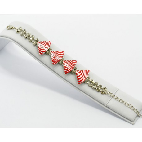 Silver metal bracelet Strass Collection Maia L20cm 61231