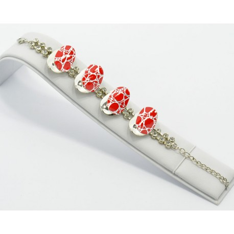 Bracelet métal argenté Strass Collection Maia L20cm 61235