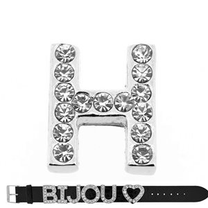 Initial Full Rhinestone Bracelet 20mm to 18mm name Letter H 69208