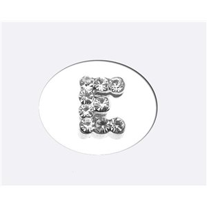 Initial Full Rhinestone Bracelet 8mm to 6mm first Letter E 69169