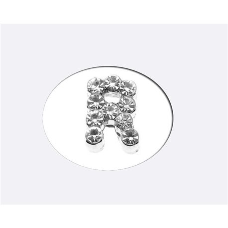 Initial Full Rhinestone Bracelet 8mm to 6mm first Letter R 69182